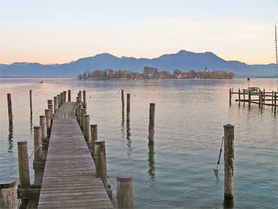 Chiemsee, Fraueninsel, Landschaft